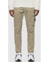 Stone Island Slim Fit Trousers With Pocket - Brown