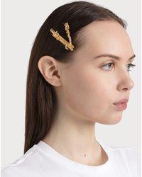 Versace Virtus Crystal Hair Pin - Metallic