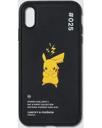 Casetify Pikachu 025 Pokédex Night Iphone Xs Max Case - Black