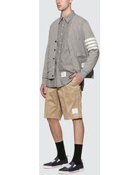 Thom Browne Straight Fit Chambray Shirt - Grey