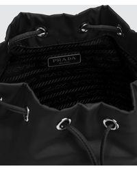 Prada Vela Nylon Drawstring Wash Bag - Black
