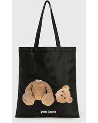 Palm Angels Bear Shopping Bag - Black