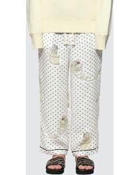 Loewe - Plumetis Pajama Pants - Lyst