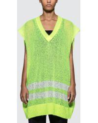 Maison Margiela - Oversized Sleeveless Knit Pullover - Lyst