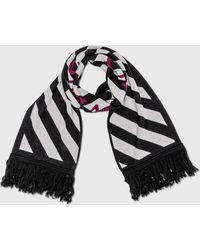 Off-White c/o Virgil Abloh Intarsia-knit Arrows Scarf - Black
