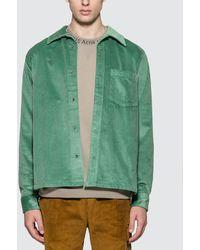 Acne Studios Denver New Cord Shirt - Green