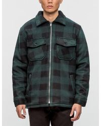 Warren Lotas - Hammer Plaid Sherpa Jacket - Lyst