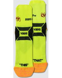 Off-White c/o Virgil Abloh 'y013' Socks - Yellow