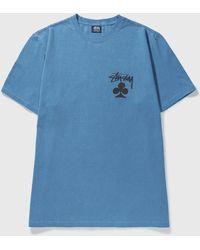 Stussy Club Pig. Dyed T-shirt - Blue