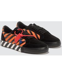 Off-White c/o Virgil Abloh Black And Orange Diag Low Vulcanized Sneakers