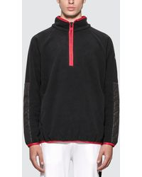 Moncler Half Zip Fleece Top - Black