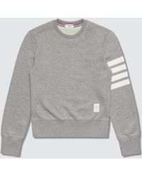 Thom Browne 100% Cotton Children Sweatshirt - Gray