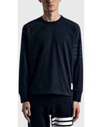 Thom Browne Long Sleeve Rugby T-shirt - Blue