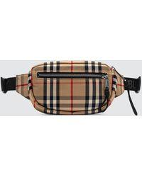 Burberry Small Vintage Check Bum Bag - Natural