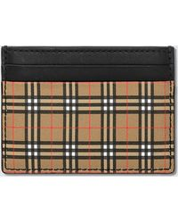 Burberry Check Card Holder - Natural