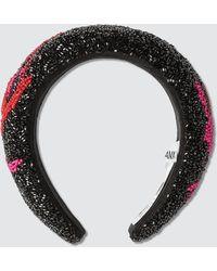 Ganni Padded Beaded Hair Band - Black