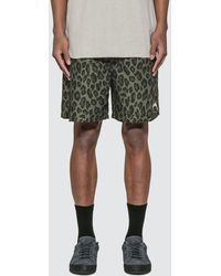 Stussy Tonal Leopard Water Shorts - Green