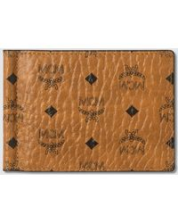 MCM Money Clip In Visetos Original - Brown