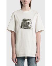 ADER error Spray Logo T-shirt - White