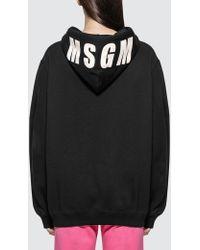 MSGM Basic Logo Hoodie - Black