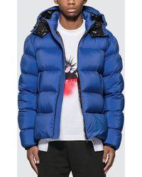 Moncler Removable Hood Nylon Down Jacket - Blue