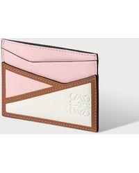 Loewe Puzzle Logo-debossed Leather Cardholder - Pink