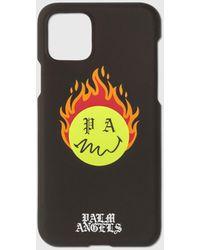 Palm Angels Burning Head Iphone 11 Pro Case - Black