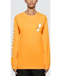 RIPNDIP Double Nerm Rainbow Long Sleeve T-shirt - Yellow