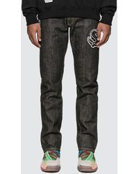 BBCICECREAM Dollar Chenill Patch Denim Trousers - Black