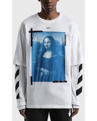 Off-White c/o Virgil Abloh Mona Lisa Double Sleeve T-shirt - White