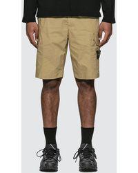 Stone Island Nylon Pocket Shorts - Natural