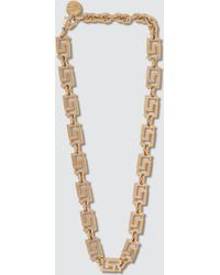 Versace Greca Chain Choker Necklace - Metallic