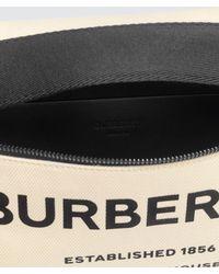 Burberry Logo Print Canvas Belt Bag - Natural