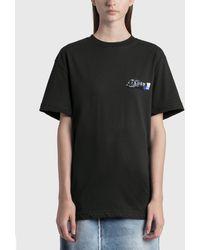 ADER error Foil Tape Logo T-shirt - Black