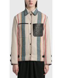 Loewe Stripe Button Jacket - Multicolor