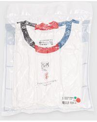 Maison Margiela - 3-pack Stamp T-shirts - Lyst