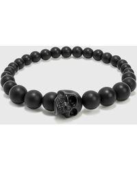 Alexander McQueen Skull Multi Beaded Bracelet - Black