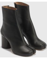 Maison Margiela Tabi Calfskin Ankle Boots - Black
