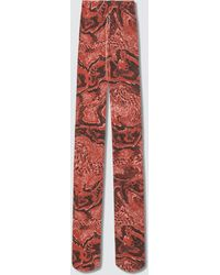Ganni Recycled Printed Accessories Stockings - Red