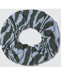 Ganni Print Cotton Poplin Hair Band - Blue