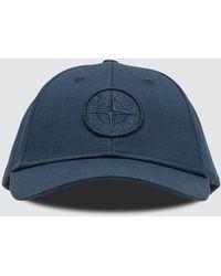 Stone Island Cotton Rep Cap - Blue