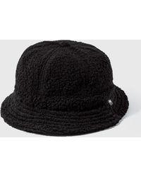Stussy Sherpa Fleece Bell Bucket Hat - Black