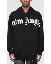 Palm Angels Front Over Logo Hoody - Black