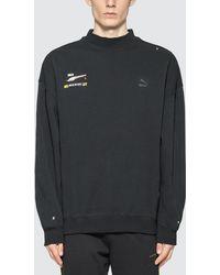 PUMA Ader Error X Mock Neck Sweatshirt - Black
