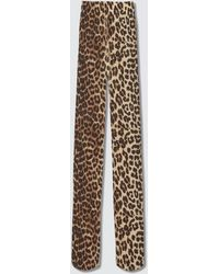 Ganni Recycled Printed Accessories Stockings - Brown