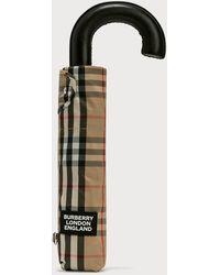 Burberry Vintage Check Folding Umbrella - Natural