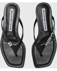 Alexander Wang Ivy Flat Thong Sandal - Black