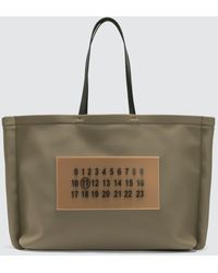 Maison Margiela Outline Tote Bag - Green