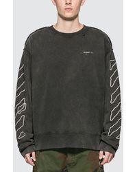 Off-White c/o Virgil Abloh Abstract Arrows Incomp Sweatshirt - Black