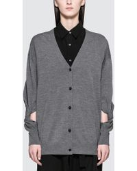 Alexander Wang - Twisted Sleeve Cardigan - Lyst